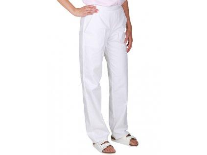 2400 Kalhoty dámské do pasu bílé PAVLA (Velikost 54) bdc085277b