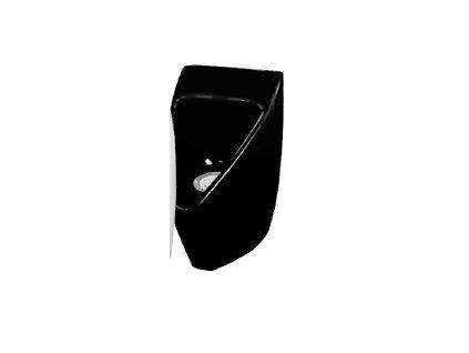 BEZVODÝ pisoár sklolaminát ECOSTEP-P1 ČERNÝ + sada (adaptér, ventil, klíč)