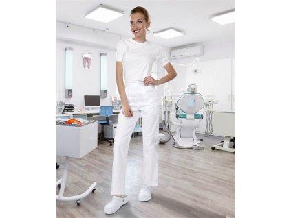 Kalhoty dámské SANDER bílé (Velikost 62)