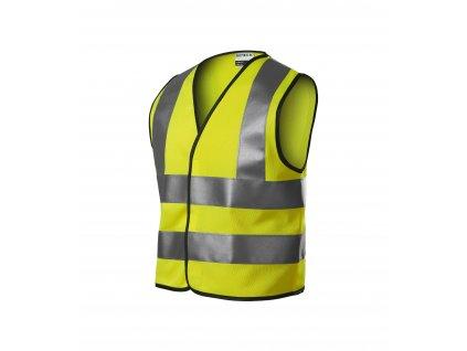 HV Bright bezpečnostní vesta dětská reflexní oranžová 6-8 let/116-140 cm