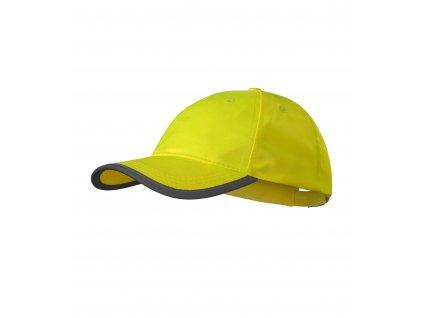 HV Reflex čepice unisex reflexní žlutá uni
