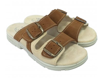 Santé DM 125 33 47 28 SP Dámský pantofel hnědá