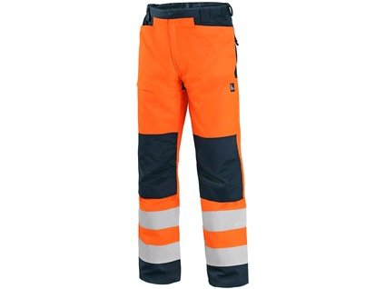 Canis Kalhoty CXS HALIFAX, výstražné se síťovinou, pánské, oranžovo-modré