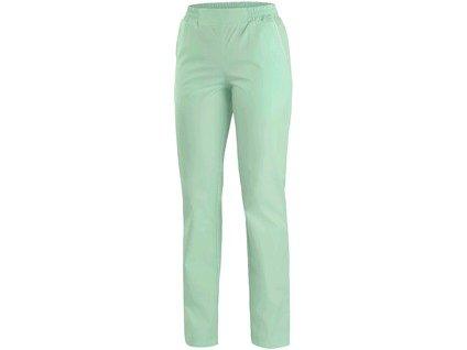 Canis Dámské kalhoty CXS TARA zelené s bílými doplňky