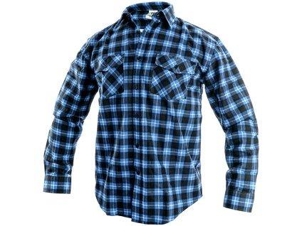 Canis Pánská košile s dlouhým rukávem TOM, modro-černá