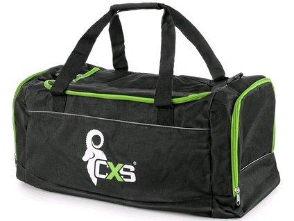 Canis Sportovní taška CXS, černo-zelená, 75 x 37,5 x 37,5 cm