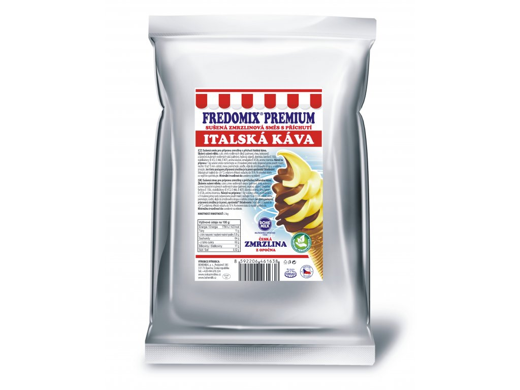 Fredomix Premium Italská káva, 2 kg