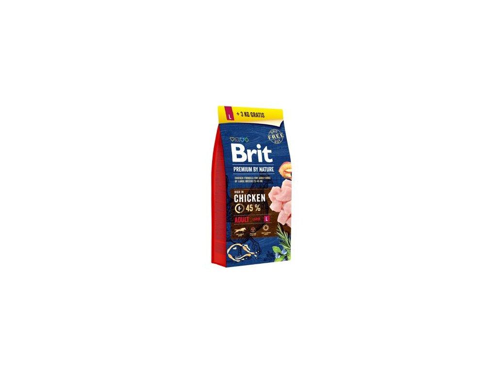 Brit Premium Dog by Nature Adult L 15kg + 3kg