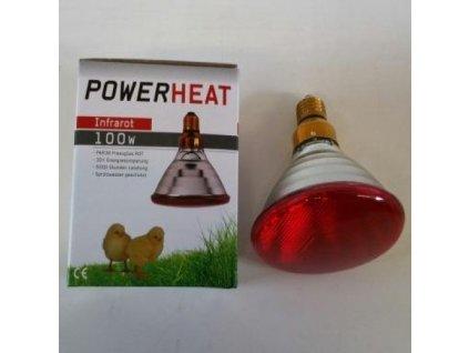4006 infra zarovka powerheat 100 w cervena