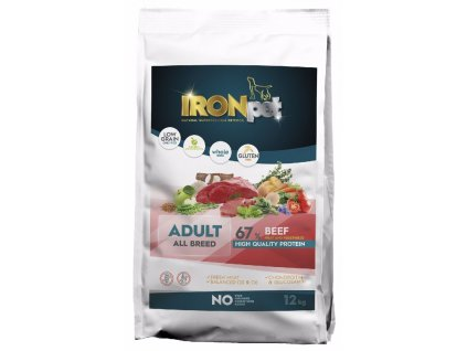 IRONpet Dog Adult All Breed Beef (Hovězí) 12 kg