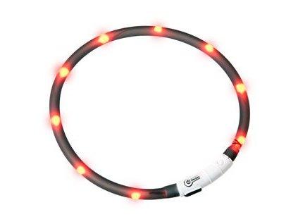 Karlie LED světelný obojek černý obvod 20-75cm