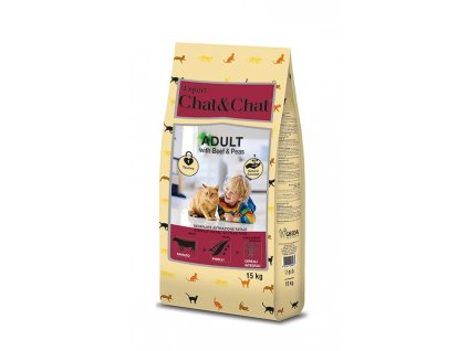 Chat & Chat Expert Adult Beef & Peas 15 kg