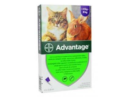 Advantage pro velké kočky a králíky 80mg 4x0,8ml
