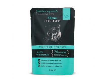 ffl cat pouch sterilized salmon 85g h M