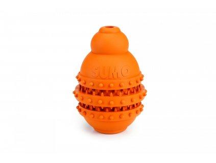 Beeztees Hračka Sumo Play Dental M oranžový 9X9X12cm