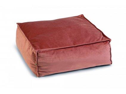 Designed by Lotte Polštář Velveti pro kočky růžový 50x50x20cm