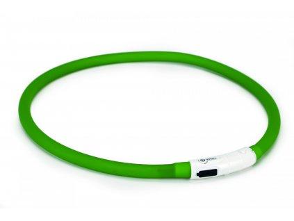 Beeztees Obojek Dogini silikonový   s USB připojením zelený 70x1cm