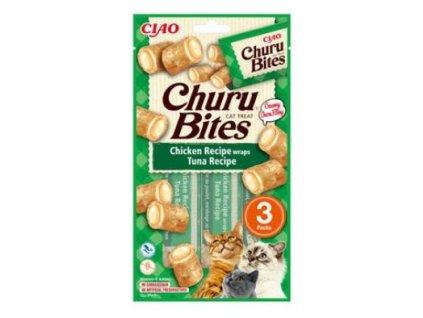 Churu Cat Bites Chicken wraps&Tuna Purée 3x10g