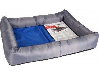 Flamingo Chladící pelíšek pro psy modro/šedý S 50x40x8,5cm