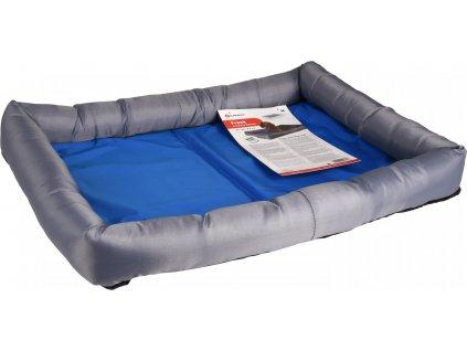 Flamingo Chladící pelíšek pro psy modro/šedý M 60x50x8,5cm