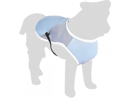 Flamingo Chladící vesta pro psy modro/šedá L 40cm