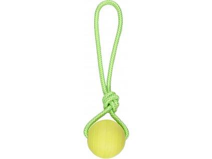Flamingo Pešek Dummy míč pro psy s lanem 8cm