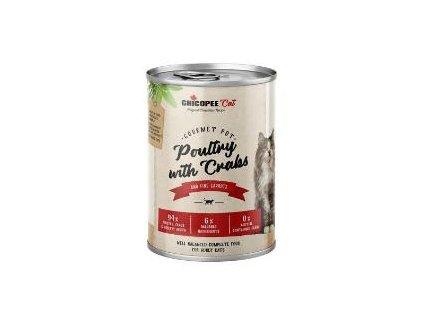 Chicopee Cat konz. Gourmet Pot Poultry+Crabs 400g