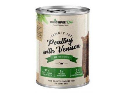 Chicopee Cat konz. Gourmet Pot Poultry+Venison 400g