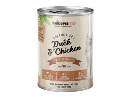 Chicopee Cat konz. Gourmet Pot Duck&Chicken 400g