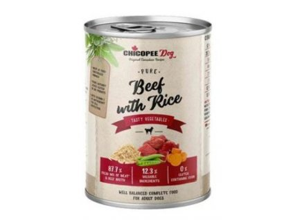 Chicopee Dog konz. Pure Beef with Rice 400g