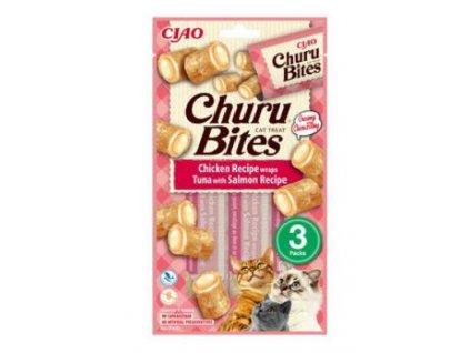 Churu Cat Bites Chicken wraps&Tuna Salmon Purée 3x10g