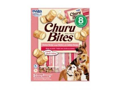Churu Dog Bites Chicken wraps Chicken+Salmon 8x12g