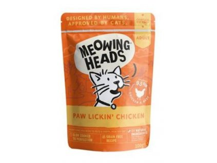 MEOWING HEADS Paw Lickin' Chicken kapsička 100g