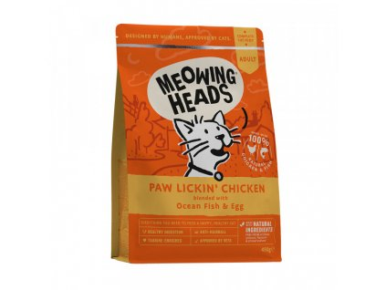 20432 meowing heads paw lickin chicken 450 g