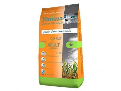 28925 nativia cat adult duck rice hairball 1 5kg