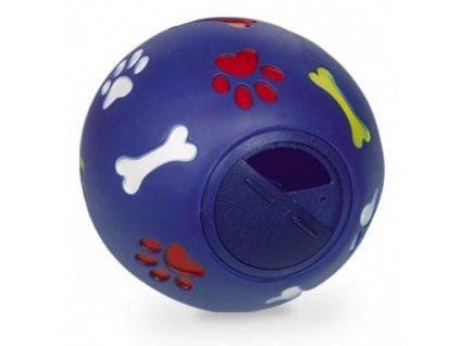 4414 nobby snack ball hracka plnitelna 14 5 cm zeleno modry