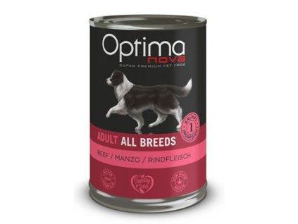 Optima Nova Dog Beef konzerva 400g
