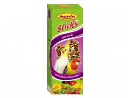 2971 avicentra tycinky maly papousek ovoce orech 2 ks