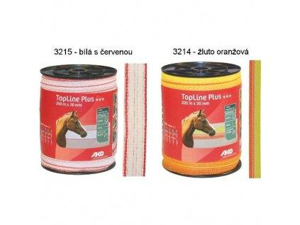 5551 polyetylenova paska pro elektricke ohradniky topline plus 20 mm bilo cervena 200 m
