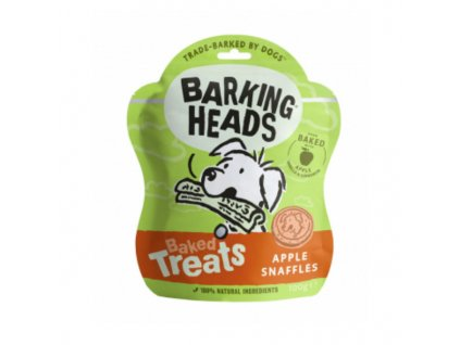28943 barking heads baked treats apple snaffles 100 g