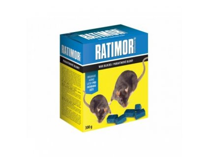 5218 ratimor parafinove bloky rodenticid 300g