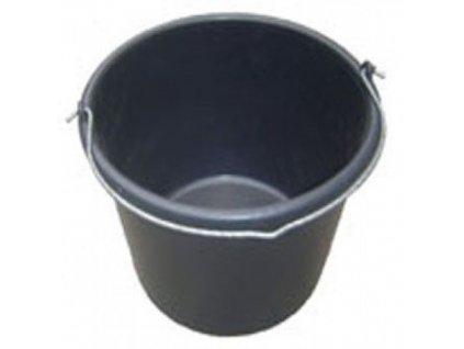 484 toptrade kbelik gumo plastovy cerny s kovovou ruckou 16 l