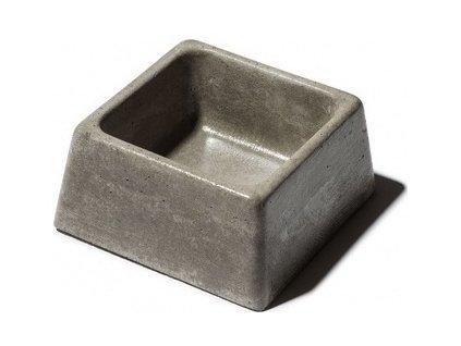 Bemi Miska BE-MI betonová čtvercová šedá č.84 155x155x75 0.6 l
