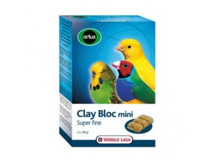 17222 versele laga orlux clay block mini pro ptaky 540 g
