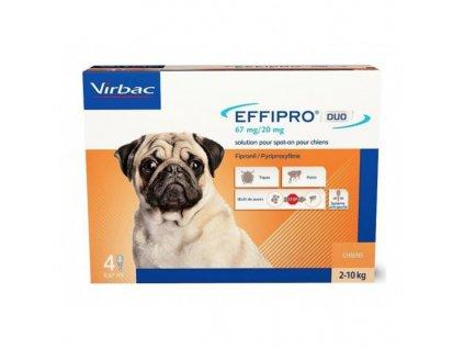21209 virbac effipro duo dog s 2 10kg 67 20 mg 4x0 67ml