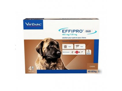 21218 virbac effipro duo dog xl 40 60kg 402 120 mg 4x4 02ml