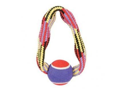24473 zolux hracka pes tennis ball rope kruh 23 cm
