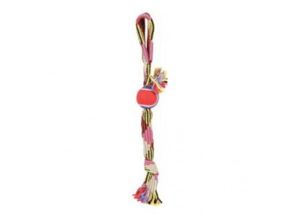 24953 zolux hracka pes tennis ball rope laso 50 cm