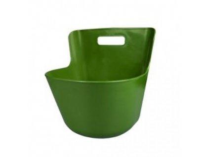 5542 zlab plastovy ka s uchytem 33x27x23 13 l zeleny