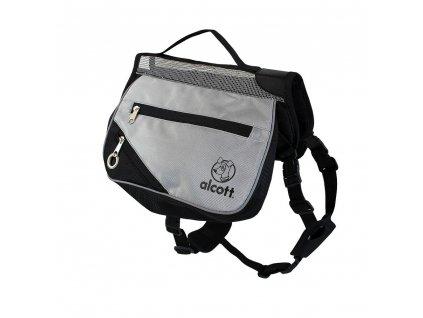 Alcott batoh pro psy, šedý, velikost M